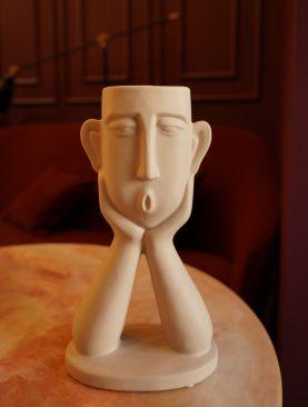 Керамическая ваза (голова)